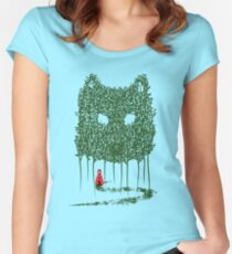 Red & The Wolf Women's Fitted Scoop T-Shirt