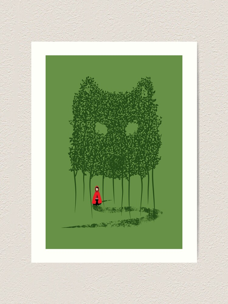 Alternate view of Red & The Wolf Art Print