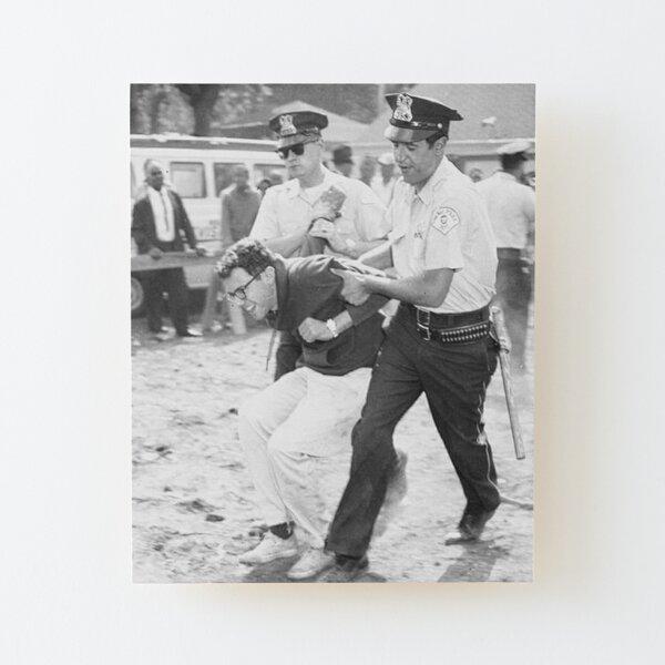 Bernie Sanders Arrested Wood Mounted Print