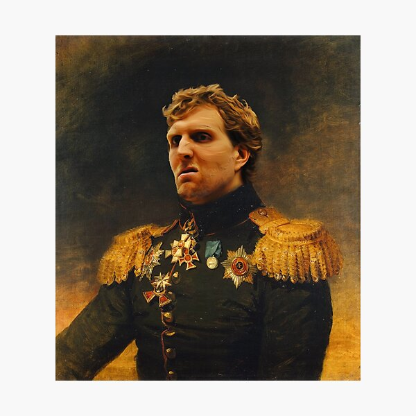Kings of Basketball - Dirk Photographic Print