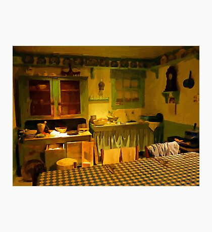 Old Country Kitchen Photographic Print