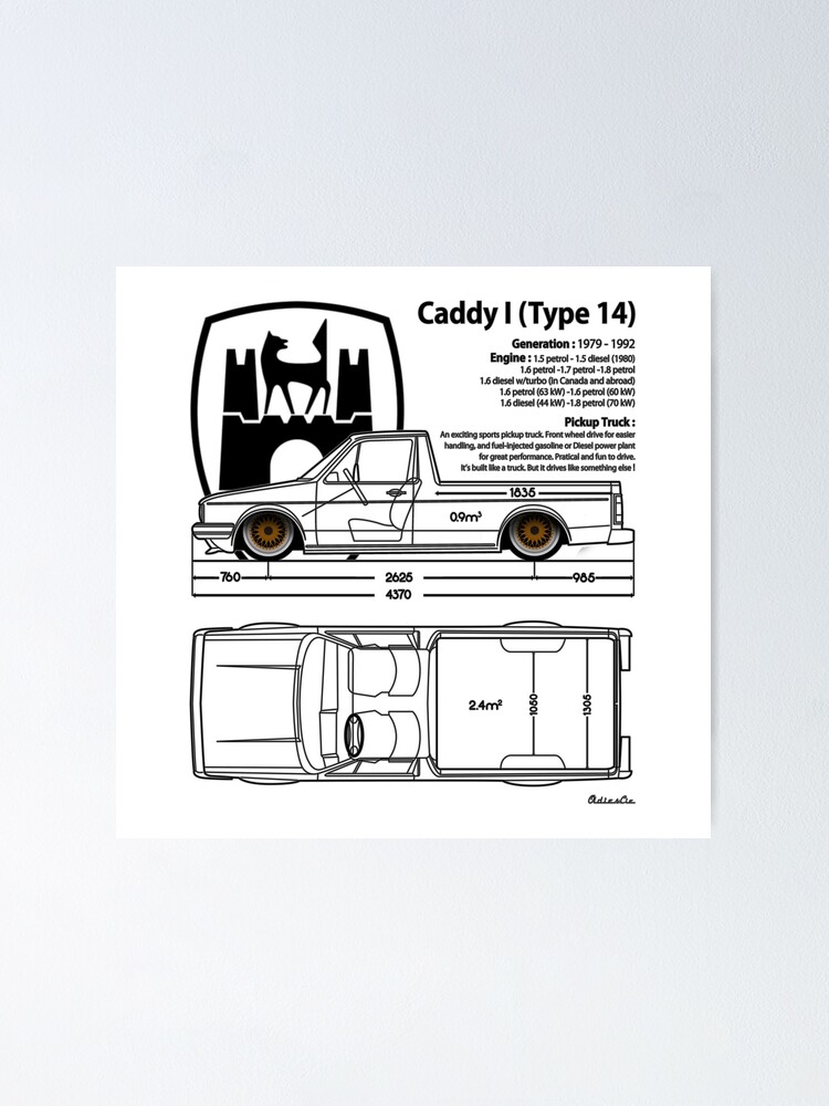 Alternate view of one CADDY Poster