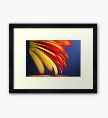 Yellow with Red - Pastel Framed Print