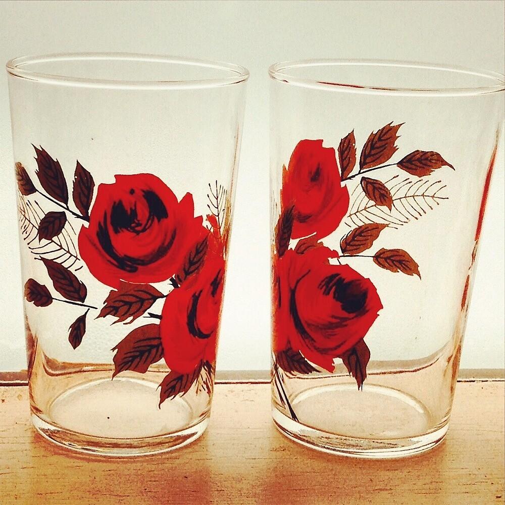 vintage roses by halfoften