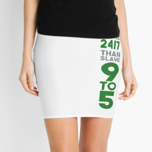 Hustle 24/7 - Green Mini Skirt