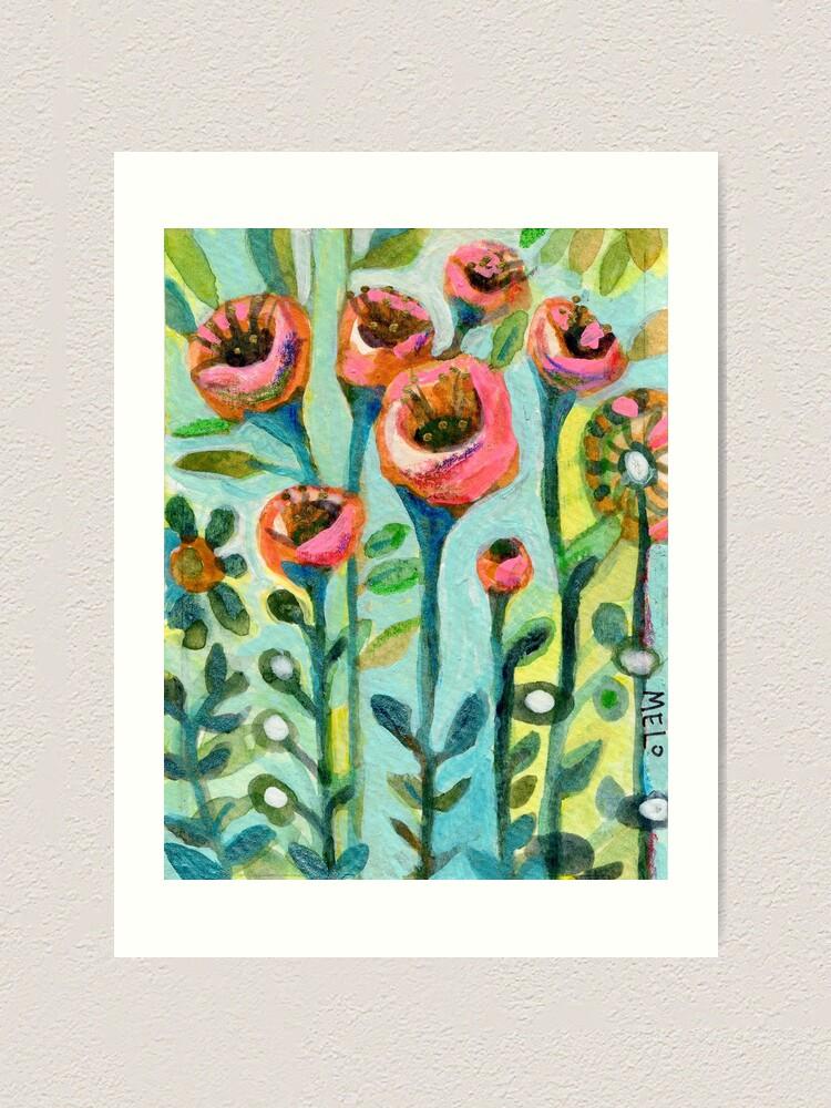 Alternate view of Tulips in the Garden Art Print