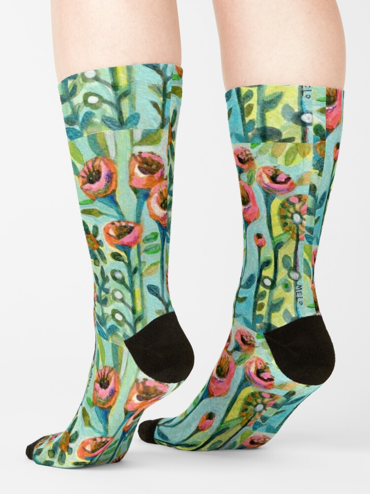Alternate view of Tulips in the Garden Socks