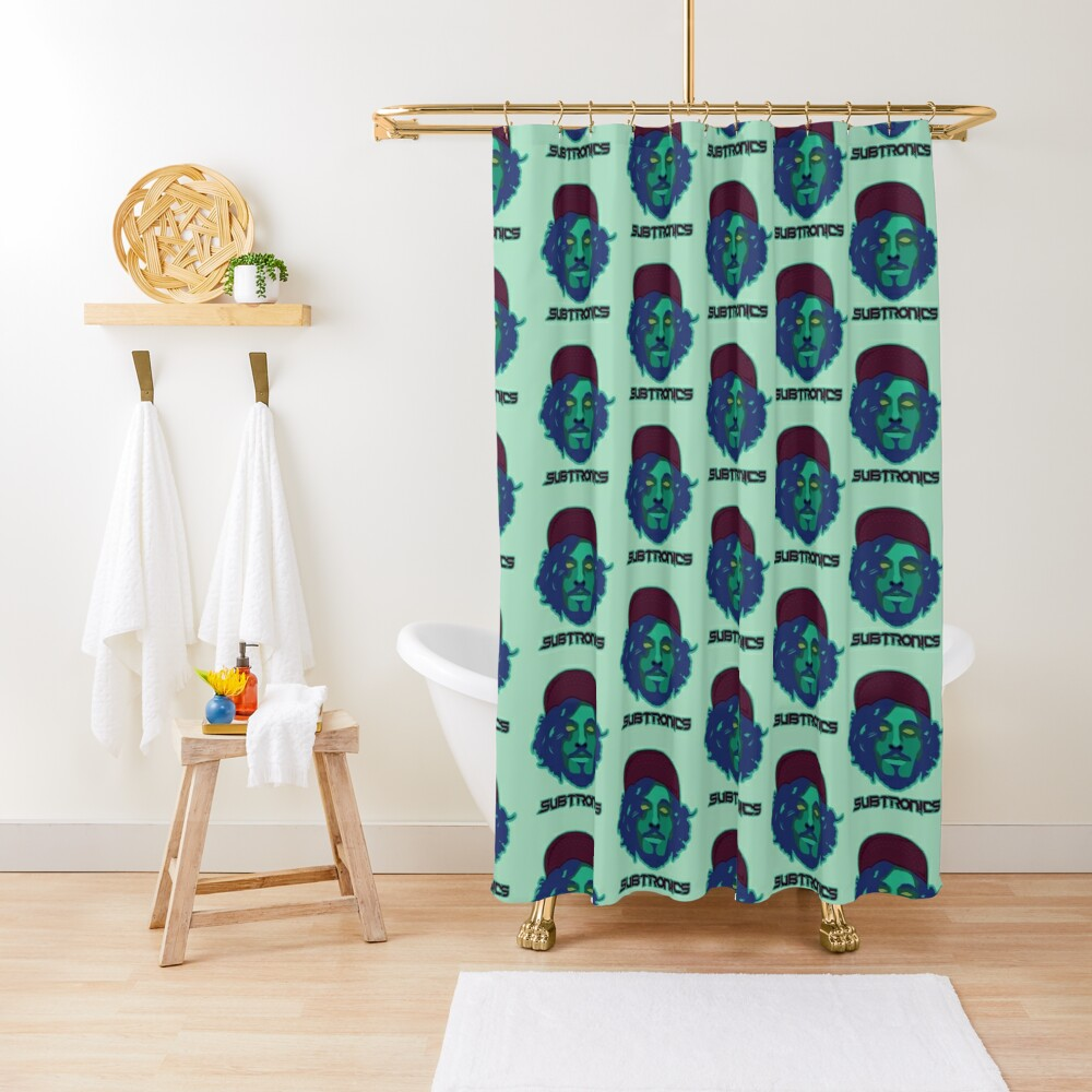 Subtronics head Shower Curtain