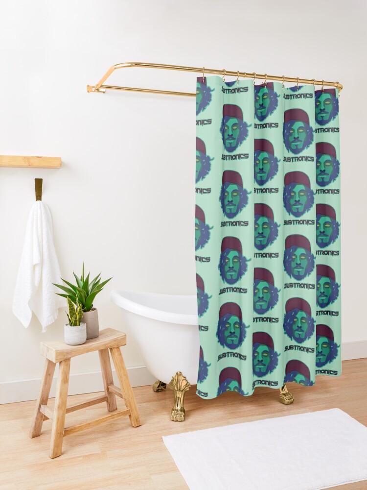 Alternate view of Subtronics head Shower Curtain