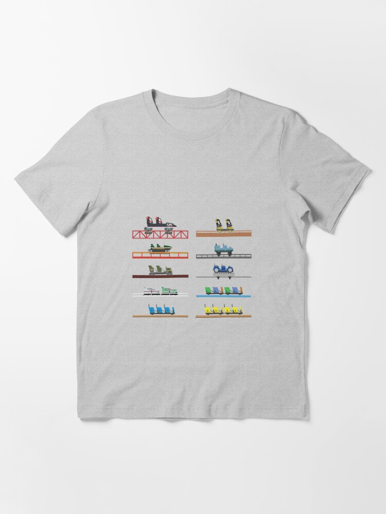 Alternate view of Kings Dominion Coaster Cars Design Essential T-Shirt