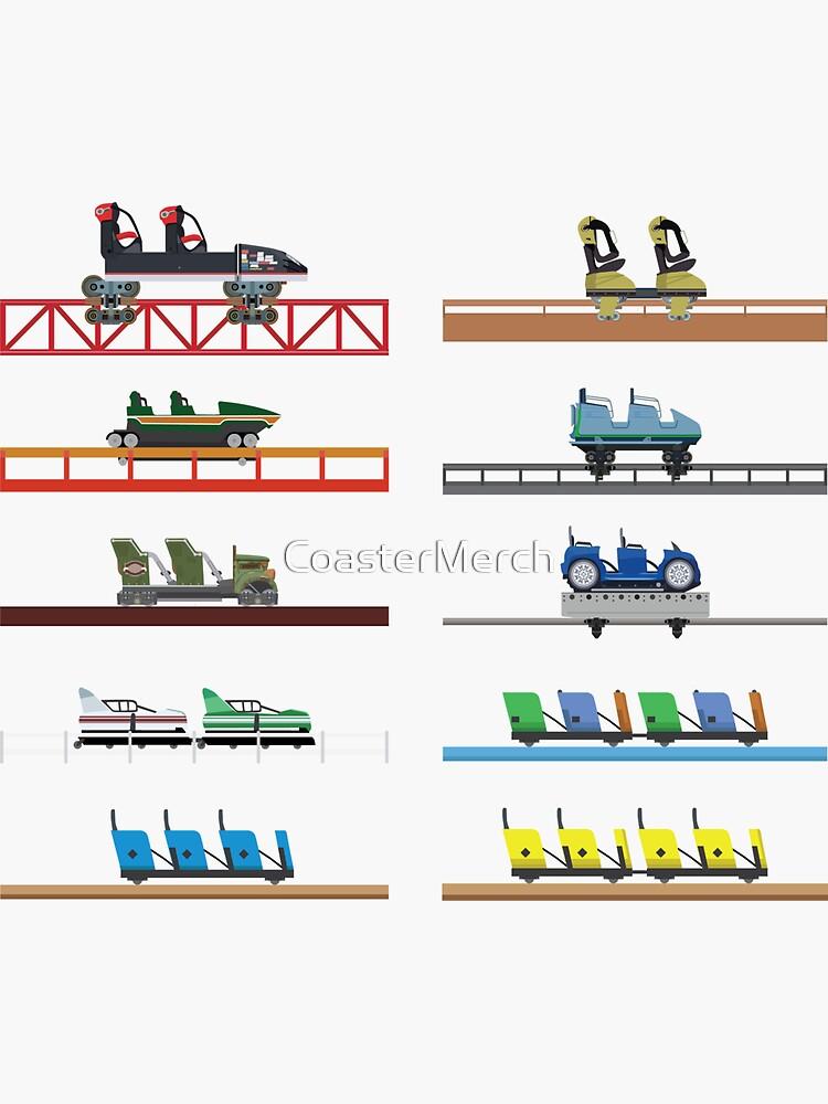 Kings Dominion Coaster Cars Design by CoasterMerch