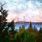 Mackinac Bridge in the Morning Light by Theodore Black