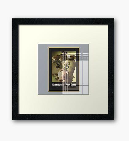 A penny  Framed Print