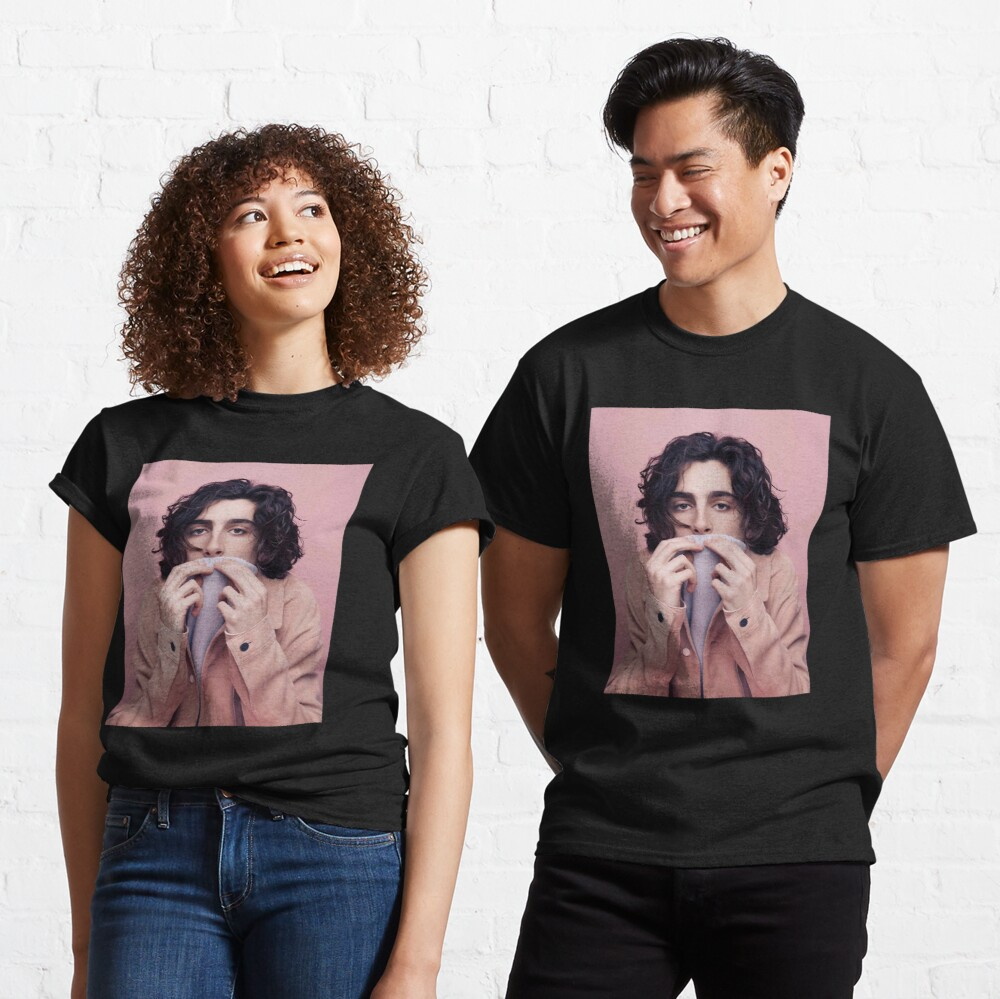 Timothee Chalamet In Pink T Shirt By Sorrycantart Redbubble