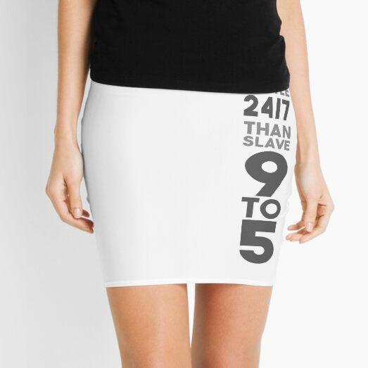 Hustle 24/7 - Grey Mini Skirt