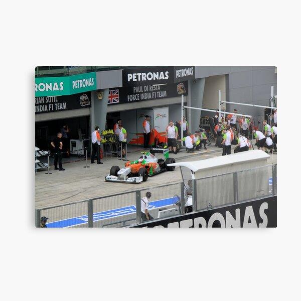 Paul DiResta of Force India F1 at Pits Metal Print