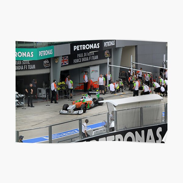 Paul DiResta of Force India F1 at Pits Poster