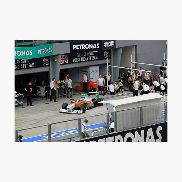 Paul DiResta of Force India F1 at Pits Photographic Print