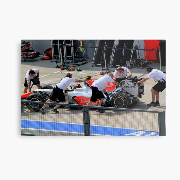 Vitantonio Luizzi calls it a day in his HRT F1 Metal Print