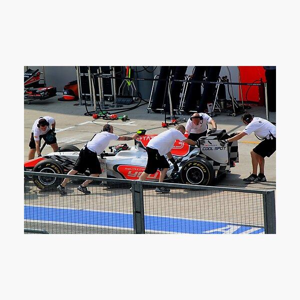 Vitantonio Luizzi calls it a day in his HRT F1 Photographic Print