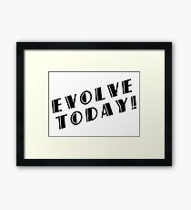 BioShock – Evolve Today! (Black) Framed Print
