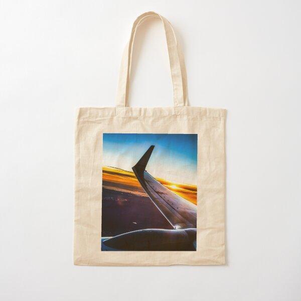 Sleek Jet Liner at Twilight Cotton Tote Bag