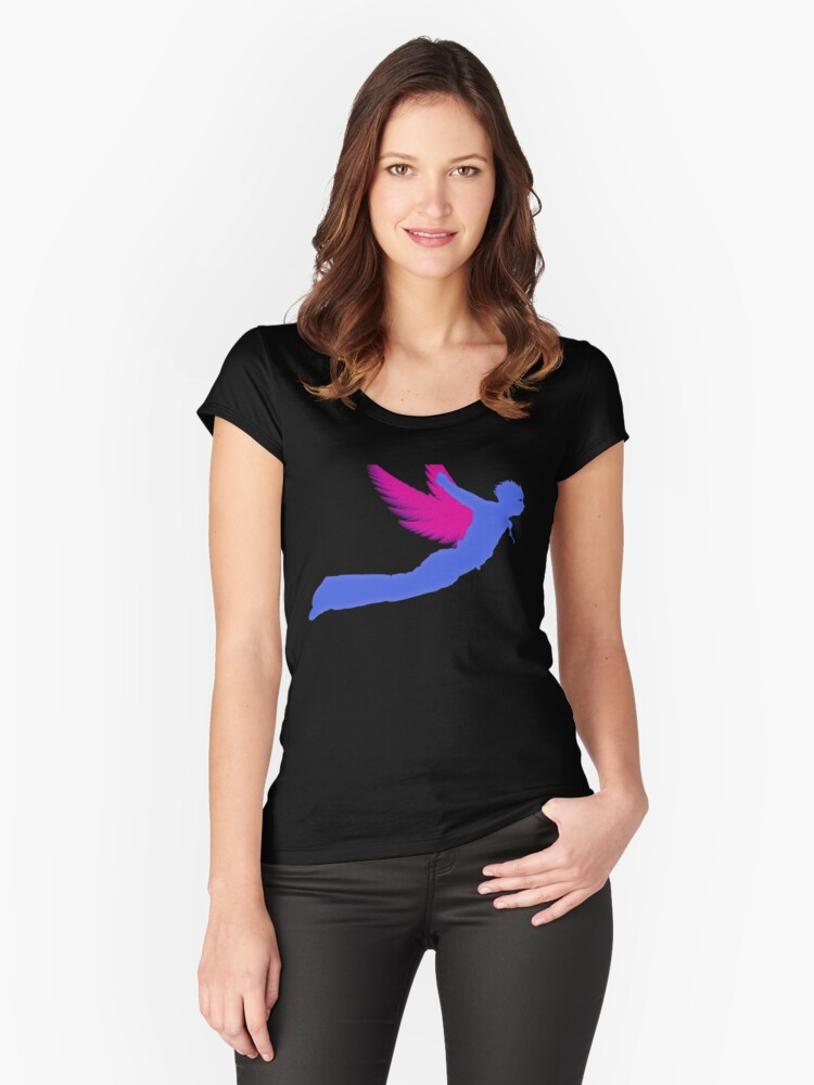 Wings Man Women's Fitted Scoop T-Shirt Front