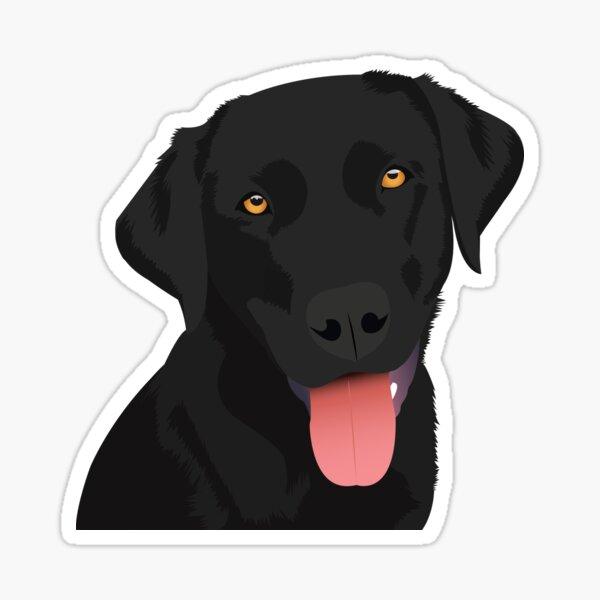 Bruno the Black Lab Sticker