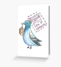 Delivery Pigeon Seal of Approval Greeting Card