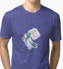 Delivery Pigeon Seal of Approval Tri-blend T-Shirt