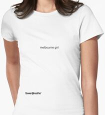 melbourne girl Women's Fitted T-Shirt