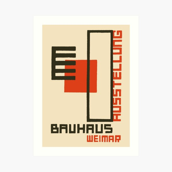 Bauhaus Exhibition Poster Collection 1923 - Avantgarde Arts No 4 Lámina artística