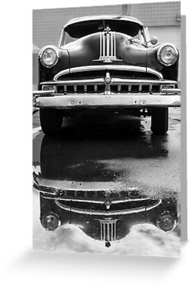 49 Pontiac after a rain by Jim  Hughes