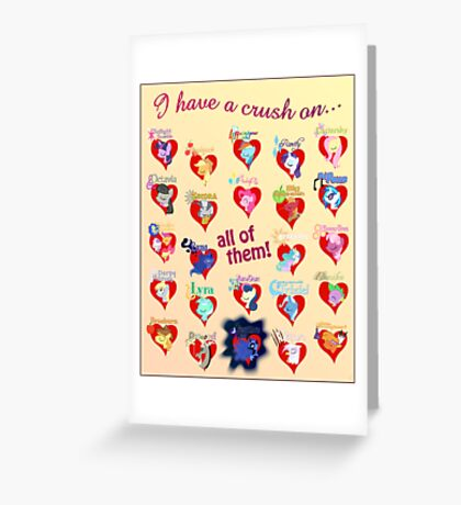 I have a crush on... all of them! 2.1 - Poster Greeting Card