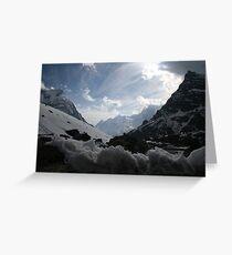 En Route To Mera Peak Greeting Card