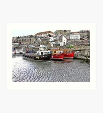 The Harbour at Seahouses,Northumberland Art Print