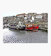 The Harbour at Seahouses,Northumberland Photographic Print