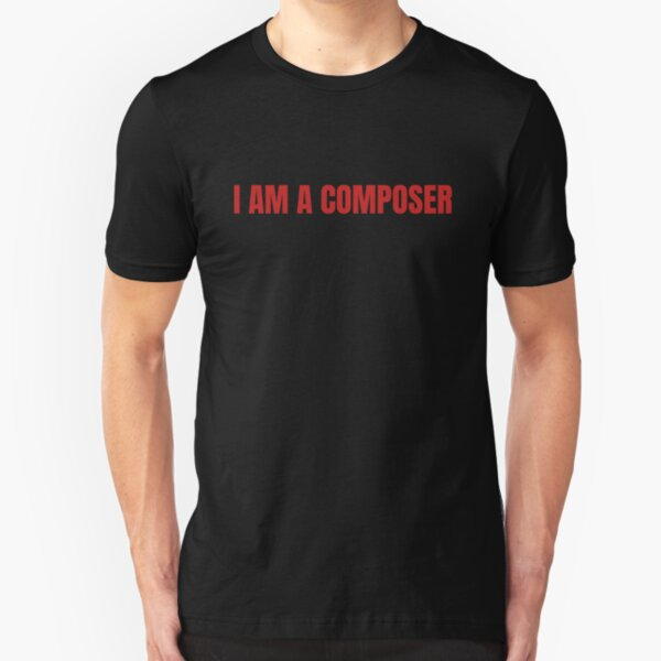 Eurovision 2020 Latvia - I am a composer (RED) Slim Fit T-Shirt
