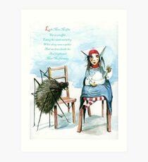 Little Miss Muffett Art Print