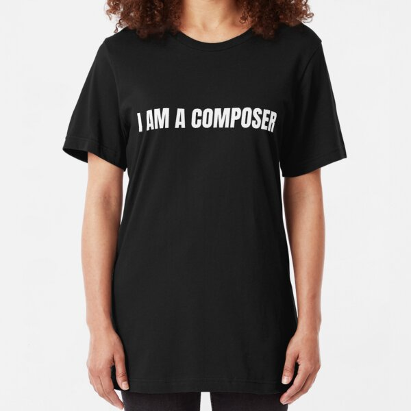 Eurovision 2020 Latvia - I am a composer (WHITE) Slim Fit T-Shirt