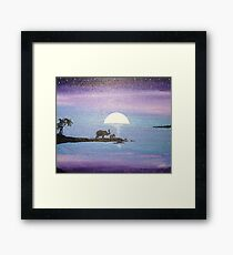 Dawn of Peace: Elephants: Father and Son Framed Print