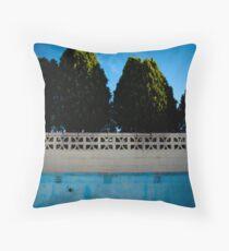 Swimming on Empty Throw Pillow