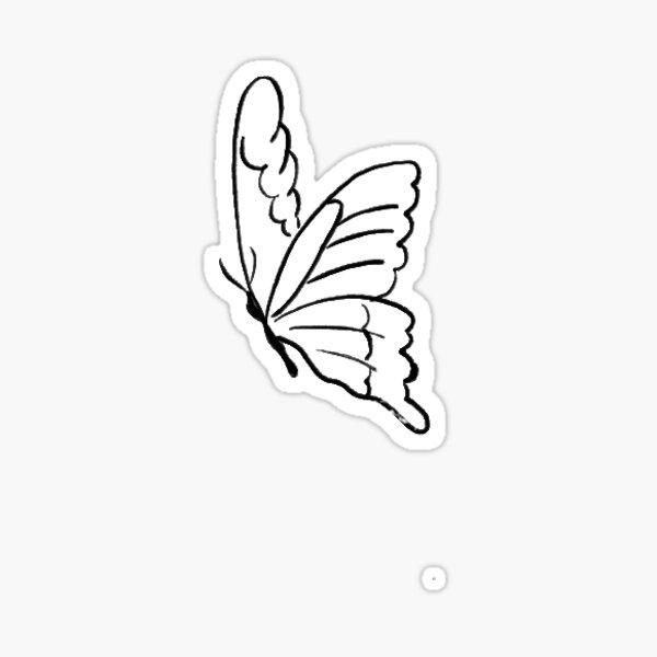 Simple Butterfly Stickers Sticker