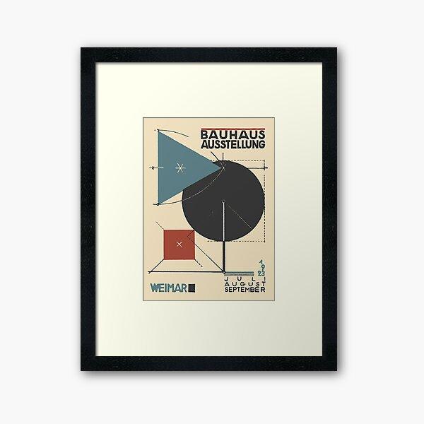 Bauhaus Exhibition Poster Collection 1923 - Avantgarde Arts No 5 Framed Art Print