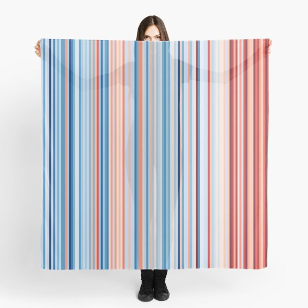 Canada Global Warming Stripes Climate Strike School Protest Marches Merchandise Scarf