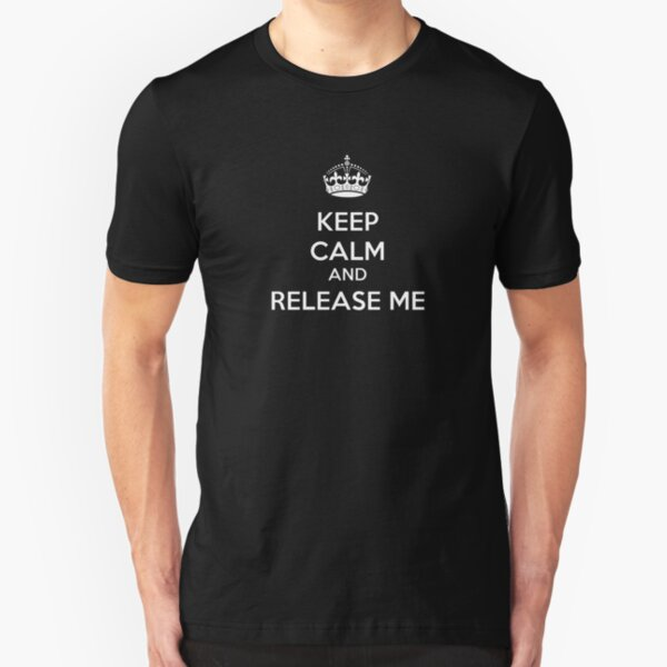 Eurovision - Keep calm and release me - Belgium Slim Fit T-Shirt