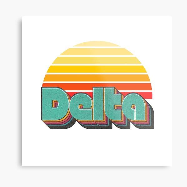 Retro Delta Metal Print