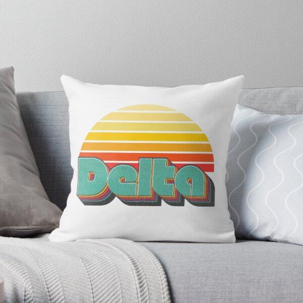 Retro Delta Throw Pillow
