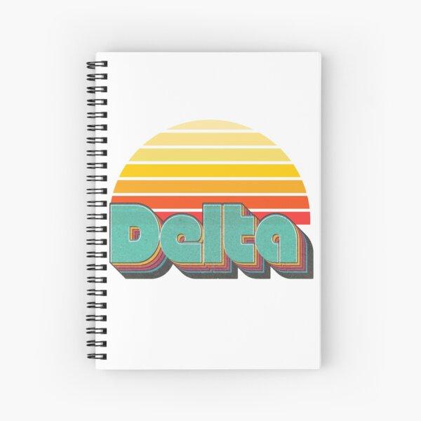 Retro Delta Spiral Notebook