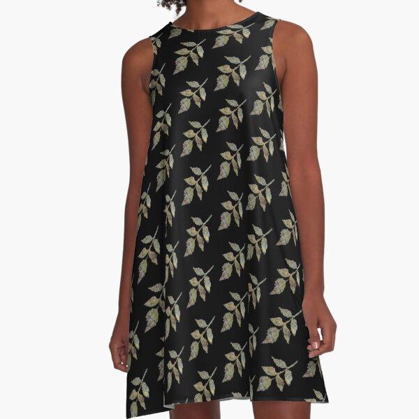 Coppery Leaf A-Line Dress